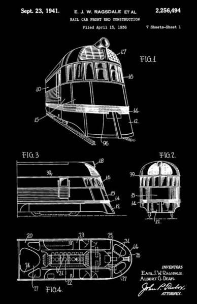 Digital Art - 1941 Zephyr Train Patent by Dan Sproul