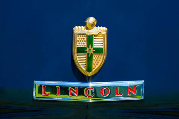 Photograph - 1942 Lincoln Continental Cabriolet Emblem by Jill Reger