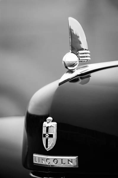 Photograph - 1942 Lincoln Continental Cabriolet Hood Ornament - Emblem by Jill Reger