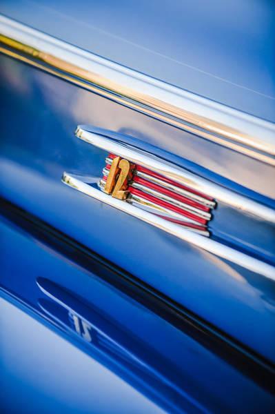 Photograph - 1942 Lincoln Zephyr Coupe Emblem -1215c by Jill Reger