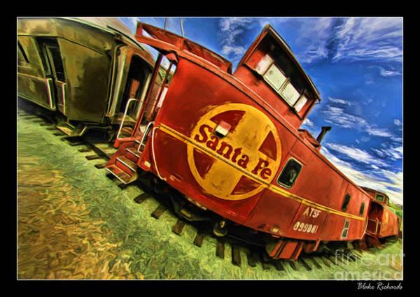 Photograph - 1942 Santa Fe Caboose 999081 by Blake Richards