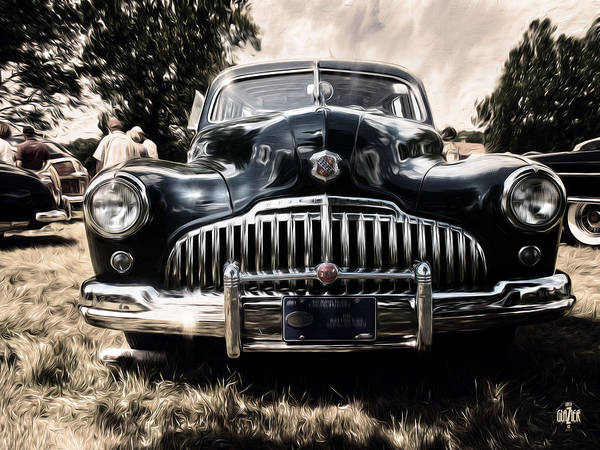 Wagon Digital Art - 1946 Buick Estate Wagon Sepia Tone by Garth Glazier