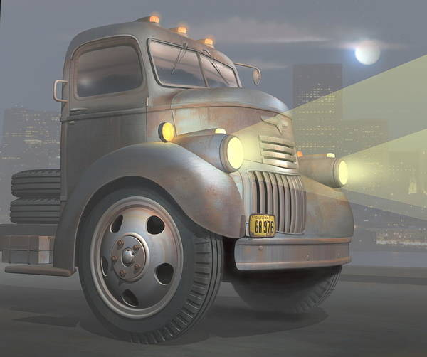 Wall Art - Digital Art - 1946 Chevy Coe by Stuart Swartz