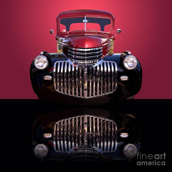 Wall Art - Photograph - 1946 Chevy Panel Truck by Jim Carrell
