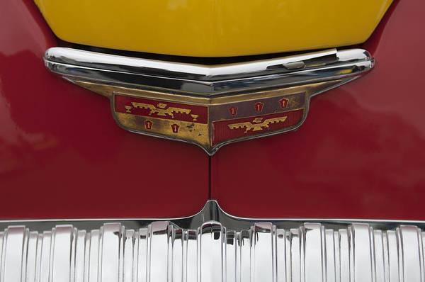 Auto Show Photograph - 1946 Desoto Emblem by Jill Reger