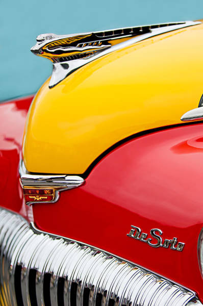 Taxis Photograph - 1946 Desoto Skyview Taxi Cab Hood Ornament by Jill Reger