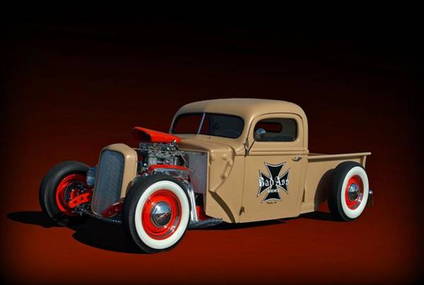 Photograph - 1946 Ford Hot Rod Pickup by Tim McCullough