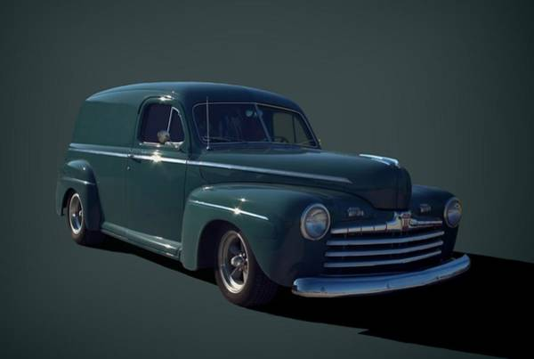 Photograph - 1946 Ford Sedan Panel Truck by Tim McCullough