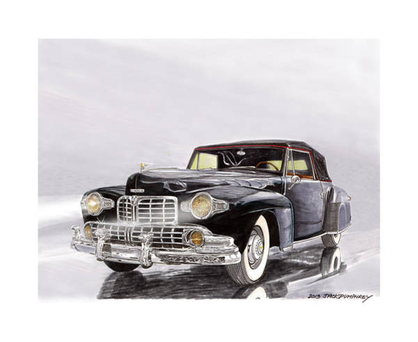 Classic Car Drawings Painting - 1946 Lincoln Continental  by Jack Pumphrey