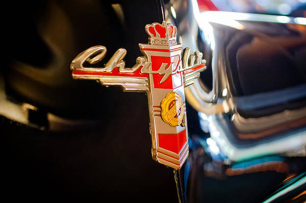 1947 Photograph - 1947 Chrysler New Yorker Town And Country Convertible Emblem by Jill Reger