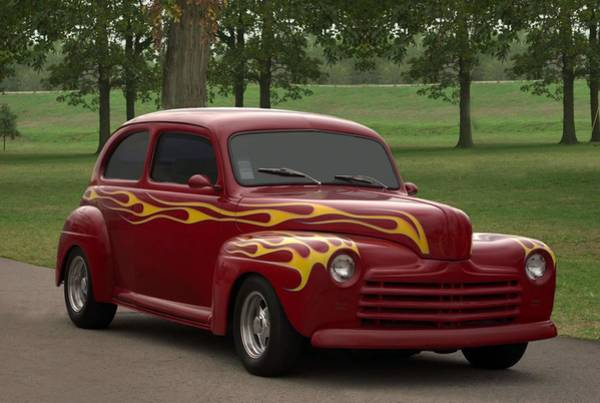 Photograph - 1947 Ford Sedan Hot Rod by Tim McCullough