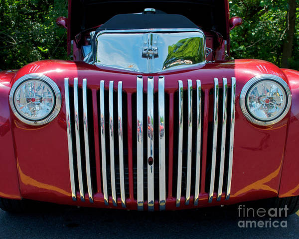 Photograph - 1947 Ford Truck Grill Cropped by Mark Dodd