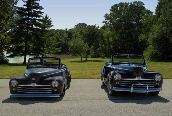 Photograph - 1947 Ford V8 Super De Luxe Convertibles by Tim McCullough