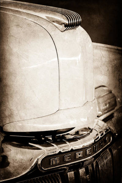Photograph - 1947 Mercury Convertible Hood Ornament - Emblem by Jill Reger