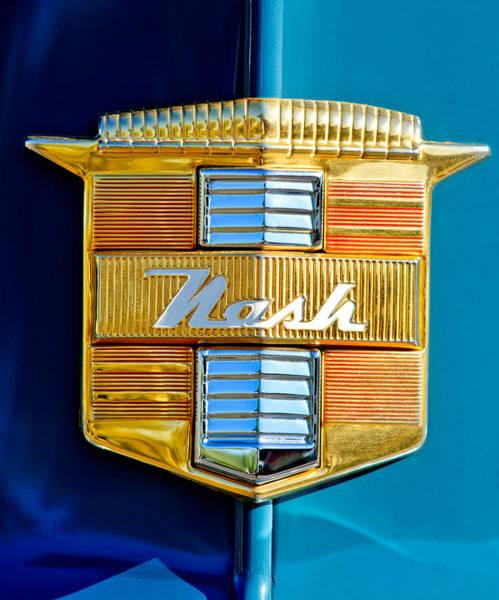 Photograph - 1947 Nash Suburban Emblem by Jill Reger