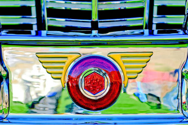 Photograph - 1947 Packard Grille Emblem by Jill Reger