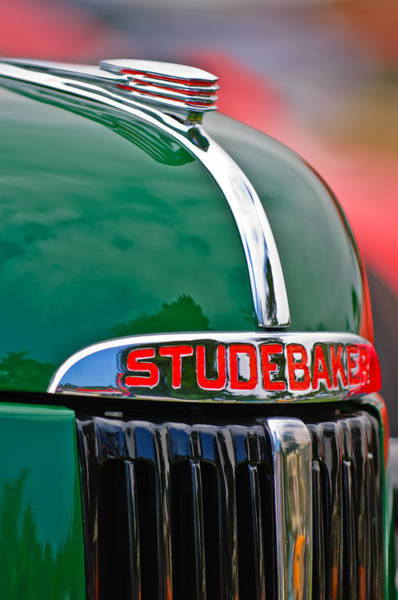 Photograph - 1947 Studebaker M5 Pickup Truck Grill Emblem - Hood Ornament by Jill Reger
