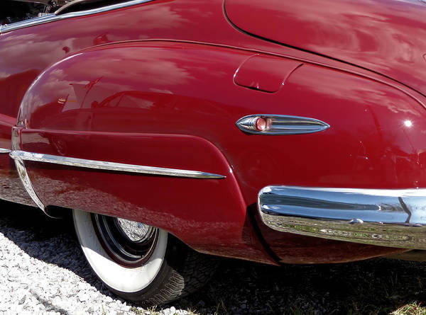 Photograph - 1948 Buick Roadmaster Red Convertible Fender by Kathy K McClellan