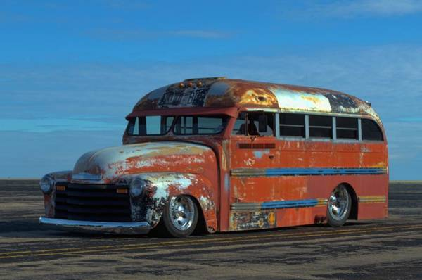 Photograph - 1948 Chevrolet School Bus by Tim McCullough