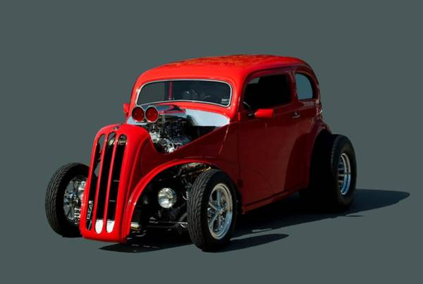 Photograph - 1948 English Ford Anglia Dragster by Tim McCullough