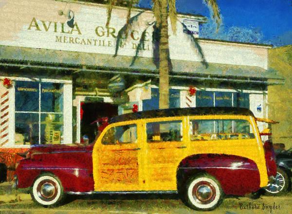 Wagon Digital Art - 1948 Ford Woody Station Wagon by Barbara Snyder