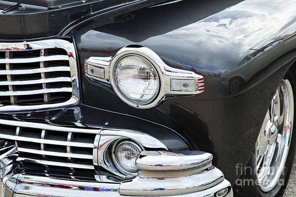 Photograph - 1948 Lincoln Continental Car Or Automobile Front Fender In Color by M K Miller