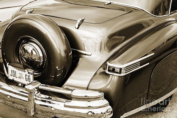 Photograph - 1948 Lincoln Continental Car Or Spare Tire In Sepia  3158.01 by M K Miller