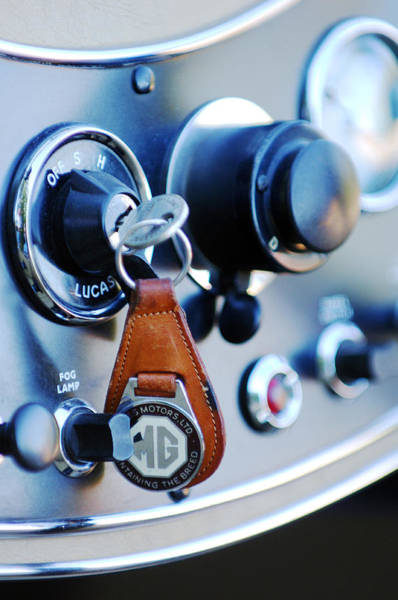 Photograph - 1948 Mg Tc Key Ring by Jill Reger