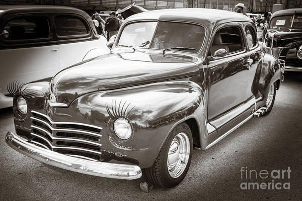 Photograph - 1948 Plymouth Classic Car Complete In Black And White Sepia 3386 by M K Miller