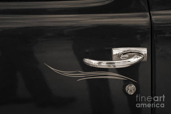 Photograph - 1948 Plymouth Door Handles And Tail Light Sepia 3382.01 by M K Miller