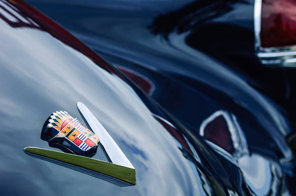 Photograph - 1949 Cadillac Fastback Taillight Emblem by Jill Reger
