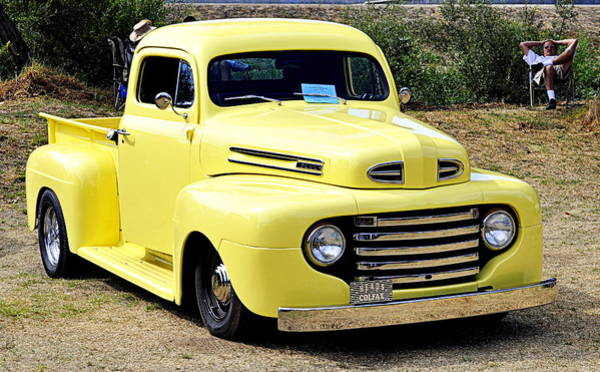 Photograph - 1949 Ford Pickup by AJ  Schibig
