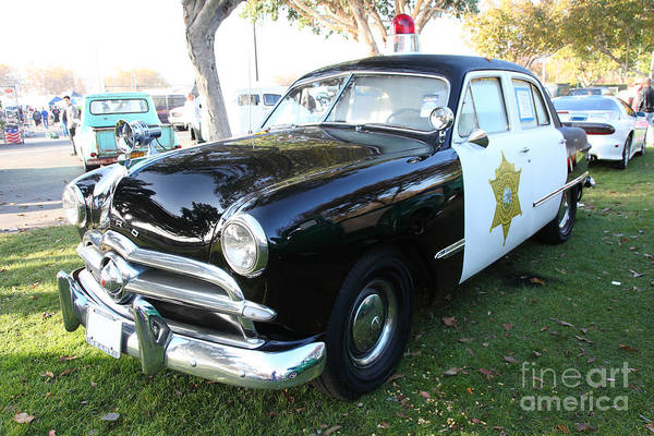 Photograph - 1949 Ford Police Car 5d26229 by Wingsdomain Art and Photography