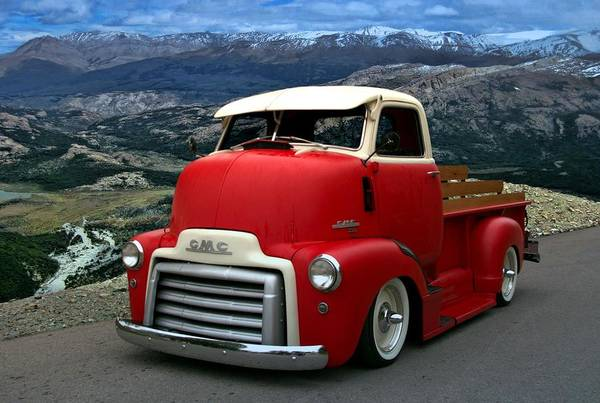 Photograph - 1949 Gmc Cab Over Pickup Truck by Tim McCullough