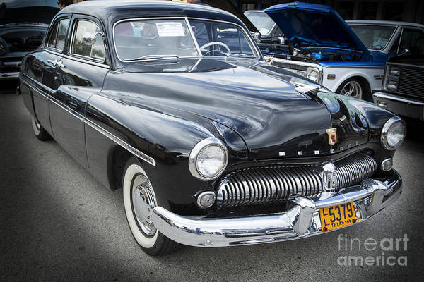 Photograph - 1949 Mercury Classic Car Front And Side In Color 3190.02 by M K Miller