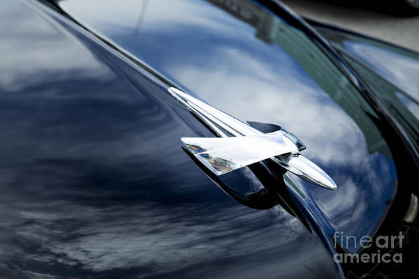 Photograph - 1949 Mercury Classic Car Hood Ornament In Color 3191.02 by M K Miller