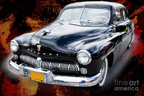 Painting - 1949 Mercury Classic Car In Color Painting 3194.02 by M K Miller
