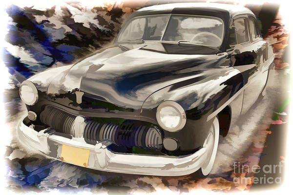 Painting - 1949 Mercury Classic Car Painting In Color 3192.02 by M K Miller
