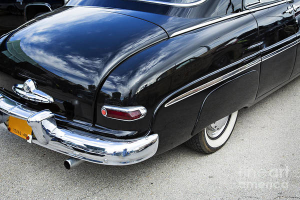 Photograph - 1949 Mercury Classic Car Trunk And Tail Lights In Color 3200.02 by M K Miller
