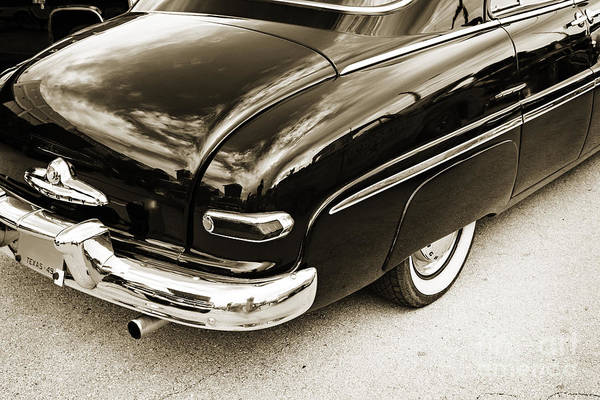 Photograph - 1949 Mercury Classic Car Trunk And Tail Lights In Sepia 3200.01 by M K Miller
