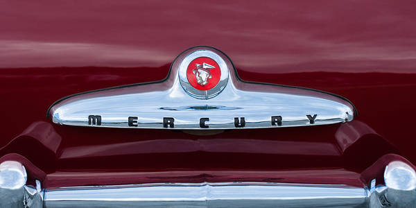 Coupe Photograph - 1949 Mercury Coupe Emblem by Jill Reger