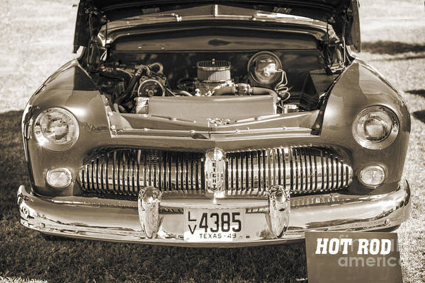 Photograph - 1949 Mercury Coupe Front Grill Sepia 3038.01 by M K Miller