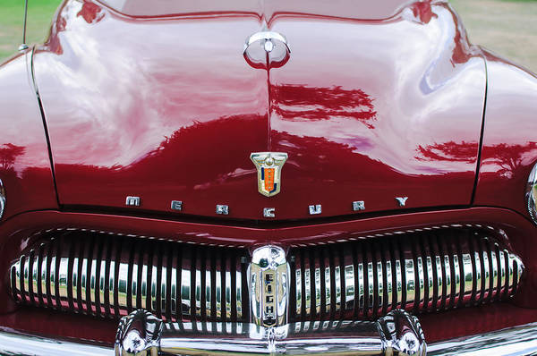 Photograph - 1949 Mercury Coupe Grille - Hood Ornament - Emblems by Jill Reger
