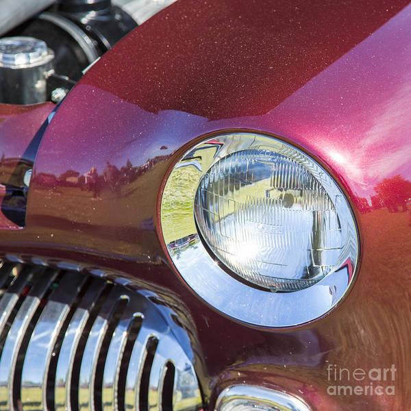 Photograph - 1949 Mercury Coupe Head Light Color 3039.02 by M K Miller