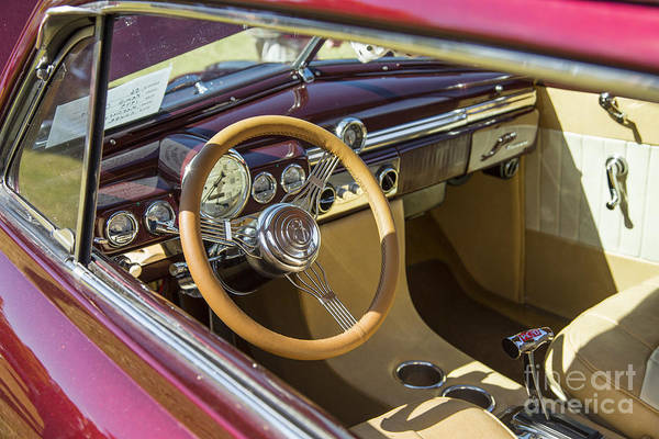 Photograph - 1949 Mercury Coupe Interior Color 3037.02 by M K Miller