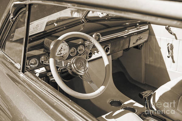 Photograph - 1949 Mercury Coupe Interior Sepia 3037.01 by M K Miller