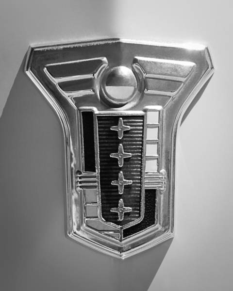 Photograph - 1949 Mercury Station Wagon Emblem by Jill Reger