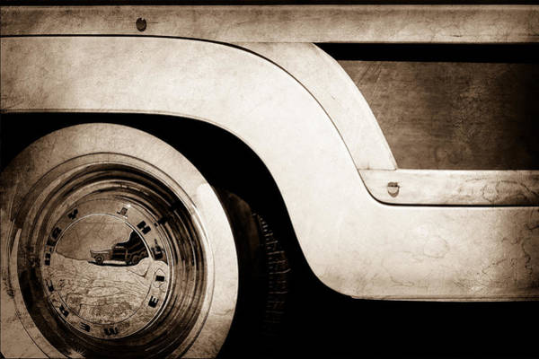 Photograph - 1949 Mercury Station Woodie Wagon Wheel Emblem by Jill Reger