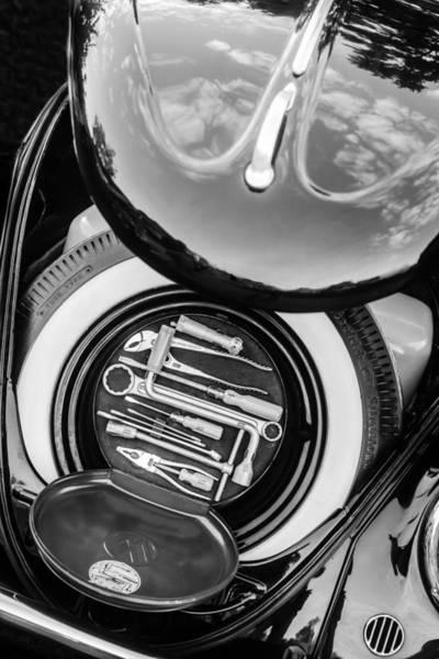 Photograph - 1949 Volkswagen Vw Hebmuller Cabriolet Tool Kit -0278bw by Jill Reger