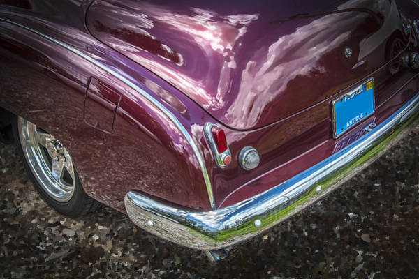 Dual Exhaust Photograph - 1950 Chevrolet Tailights And Bumper by Rich Franco